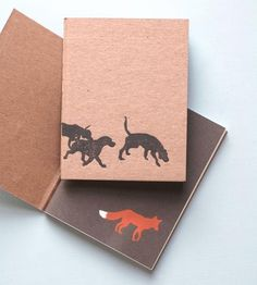 Fox & Hound Notebook - Pack of 2 by Little Alexander on Scoutmob Shoppe