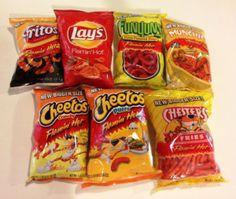 flamin hot puffs   flamin hot, cheetos, munchies, hot cheetos, cheeto puffs, hot fries