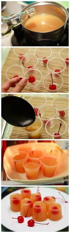 How to Make Pineapple Upside Down Cake Jello Shots                                                                                                                                                                                 Plus