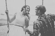 Playful & Intimate Beach, Bicycles & Swings Engagement Shoot   Bridal Musings
