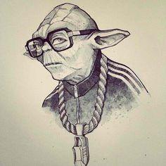 Yoda hip-hop art