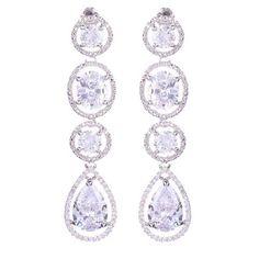 d62819bfb Megan Crystal Tear Drop Earrings Unique Earrings, Bridal Earrings, Diamond  Earrings, Teardrop Earrings