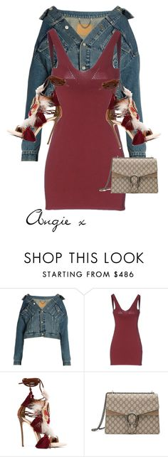 """""""Untitled #456"""" by stylzbyang ❤ liked on Polyvore featuring Balenciaga, Dsquared2 and Gucci"""