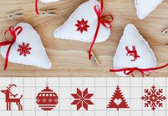 quilting like crazy Cross Stitch Christmas Ornaments, Xmas Cross Stitch, Cross Stitch Cards, Christmas Embroidery, Christmas Cross, Cross Stitching, Cross Stitch Embroidery, Embroidery Patterns, Cross Stitch Patterns