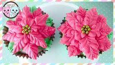 POINSETTIA CUPCAKES, POINSETTIA CAKE, FLOWER CUPCAKES - BY SUGARCODER