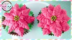 POINSETTIA CUPCAKES, POINSETTIA CAKE, FLOWER CUPCAKES - BY SUGARCODER   #poinsettia #poinsettiacupcakes #poinsettiacake #poinsettiacookies #decoratedcupcakes #flowercupcakes #flowercake #decoratedcakes #cupcakeart #cakeart