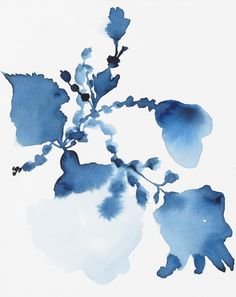 Indigo Rock 2 Art Print by Jen Garrido at King & McGaw Art Deco Print, Framed Art Prints, Poster Prints, Abstract Watercolor, Watercolor Flowers, Abstract Art, Buy Prints Online, Framing Canvas Art, Indigo Prints