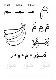 Meem,حرف الميم nice large picture and word to color Arabic Alphabet Pdf, Islamic Alphabet, Alphabet Letter Crafts, Persian Language, Arabic Language, Arabic Handwriting, Cursive, Arabic Phrases, Arabic Words