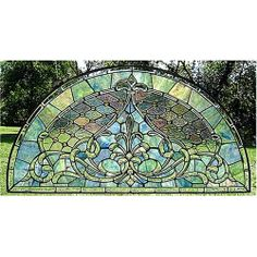 Watercolor Astoria Arched Stained Glass Window:  Kitchen