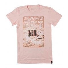 Comfort Zone in Summer Peach - each tee gives back to a featured non-profit.
