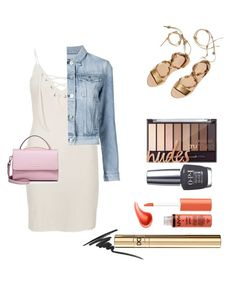 """""""🌝🌝🌝🌝"""" by lucia-teodorescu ❤ liked on Polyvore featuring River Island, 3x1, OPI, Loeffler Randall, Urban Decay, D&G, Max Factor and WithChic"""