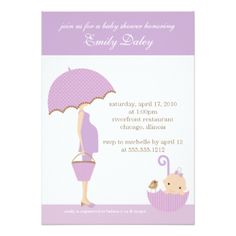 {it's a girl!} baby shower invitation [lavender]