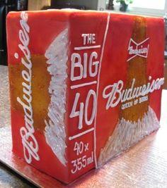 budweiser beer case cake for 40th birthday