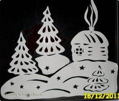 Декор предметов Новый год Вырезание Ура  Наши окна готовы Новый год встречать Бумага фото 9
