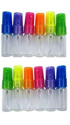 Adorable glass 10ml sprayers! Set of 12! Small, cute and easy to fill! great for owie spray, hand sanitizer, and pillow spray. click image for diy recipes and info on where to get this cute spray bottles
