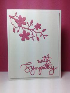 With Sympathy die: Simon Says Stamp, #SSSFAVE,  by beesmom - Cards and Paper Crafts at Splitcoaststampers