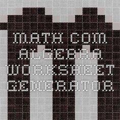 math worksheet : 1000 images about learning math on pinterest  ratios and  : Math Worksheet Generator Algebra