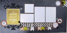"""""""Eat, Drink and be Scary"""" 12x12 Scrapbooking Kit by Diva Matilda!"""