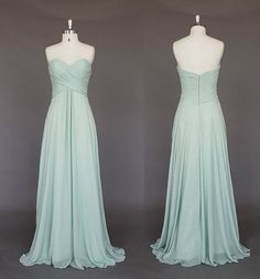 Mint prom dresses  bridesmaid dresses  Long by PromQueenDress, $89.00