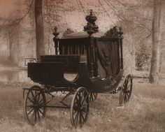 I wonder if an old carriage like this - not sure if it's an old hearse or not - could be transformed into a street-legal vehicle...