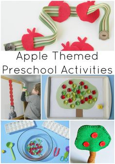 Looking for some apple themed activities for preschoolers? These activities cover fine motor skills, sensory play, counting and letter recognition!