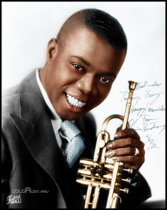 Louis-Armstrong-was a trumpeter, bandleader, singer, soloist, film star and comedian. Considered one of the most influential artists in jazz history Easy Listening, The Nearness Of You, Ella Fitzgerald, All That Jazz, Louis Armstrong, Jazz Blues, Soul Music, Motown, Musical