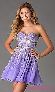 Buy Short Strapless Sweetheart Sherri Hill Dress at PromGirl