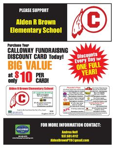 35 Best Calloway Fundraising Discount Card Ideas Images Card
