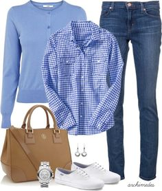 7 casual work outfits with jeans - women-outfits.com