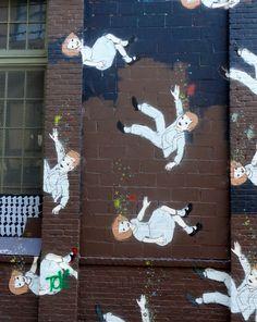 by Amanda Marie Graffiti Art, Stencil Graffiti, Street Installation, 4th Street, Street Culture, Cool Art, Awesome Art, Street Artists, Banksy