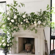 Wedding Mantle, Garland Wedding, Wedding Decorations, Wedding Ideas, Floral Wedding, Wedding Flowers, Welsh Weddings, Large Flower Arrangements, Brunch Wedding
