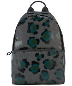 KENZO Kenzo Men'S  Grey Leather Backpack'. #kenzo #bags #leather #backpacks #