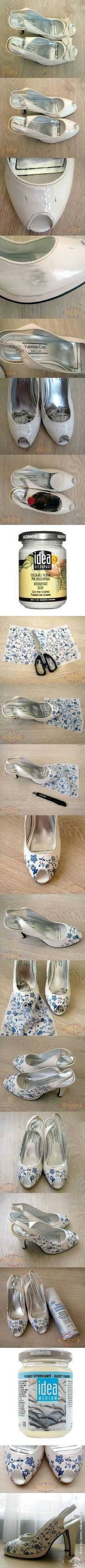Decoupage for Old Heels