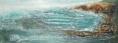 Powertex og akryl maleri Figurative, Water, Painting, Outdoor, Abstract, Water Water, Outdoors, Aqua, Paintings