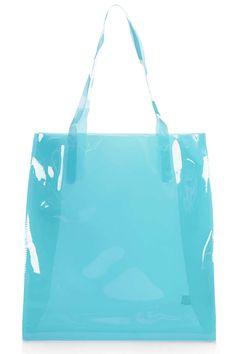 Topshop Semi-Sheer Plastic Shopper Bag, £20