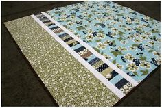Back of quilt by Oh! Fransson, I love the fabric, but the detail is awesome too!