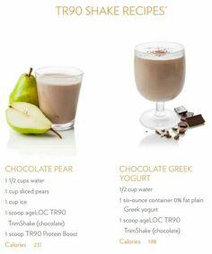 TR90 Shakes - Chocolate Pear & Chocolate Greek Yogurt