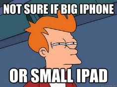 ipad meme, iphone meme, futurama, fry