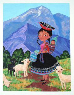 "Cholita - ""Summer View 06"" Art in the Loft by Elisa Chavarri."