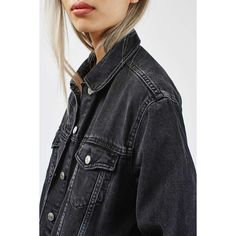 TopShop Moto Denim Raw Hem Jacket (490 HKD) ❤ liked on Polyvore featuring outerwear, jackets, western denim jacket, cowboy jacket, cowboy denim jacket, denim jacket and topshop jacket