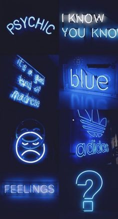 48 Ideas For Neon Blue Wall Paper Wallpapers Blue Aesthetic Tumblr, Blue Aesthetic Dark, Black Aesthetic Wallpaper, Aesthetic Colors, Aesthetic Collage, Aesthetic Backgrounds, Aesthetic Iphone Wallpaper, Aesthetic Wallpapers, Hd Backgrounds