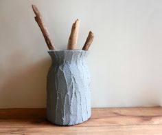 Perfect vase for a new baby boy bouquet. Make that new mama happy! Blue Grey Vase by CarriageOakCottage