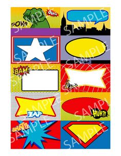 superhero-birthday-party-place-cards-business-card-size-name-tags-labels-superman-hulk-capt-america-batman-birthday-party-food-tags-labels | Flickr - Photo Sharing!