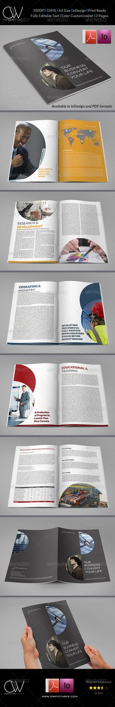 Corporate Brochure Template Vol.20 - 12 Pages
