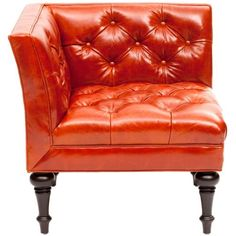 Salon Corner Leather Chair