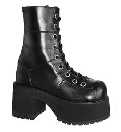 860d719363 The best platforms, cage booties, flatforms & combat boots from Demonia and  Current Mood can be found here at Tragic Beautiful.