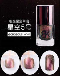 1Pcs 8ml Black Starry Sky Holographic Nail Polish Brand BK Glitter Nail Enamel Professional Nail Art Cosmetics 8 Color Optional-in Nail Polish from Health & Beauty on Aliexpress.com   Alibaba Group