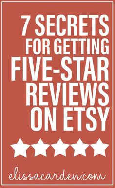 five star reviews on etsy