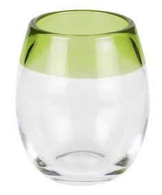 Love this Green-Rim Stemless Wine Glass - Set of Four on #zulily! #zulilyfinds