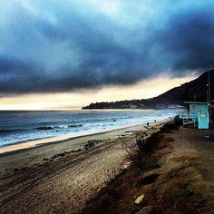 Storm rollin' in...  #Malibu #PCH #beach #ocean #storm